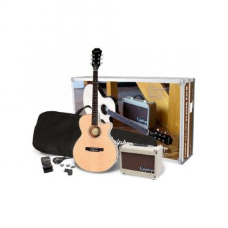 Epiphone PR-4E Acoustic Player Pack Western Guitar Complete Set with Amplifier