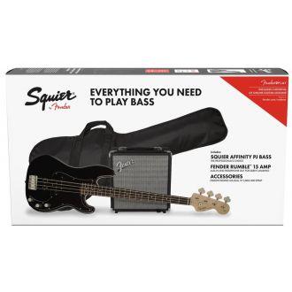 Fender Squier Affinity Precision PJ Black Pack