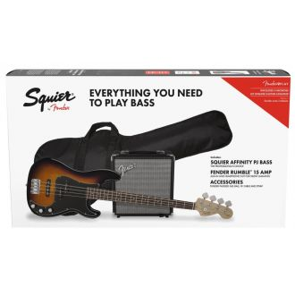Fender Squier Affinity Precision PJ Brown Sunburst Pack