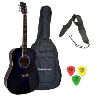 J.J BLS Πακέτο Ακουστικής Κιθάρας με Θήκη-Ζώνη-Πέννες