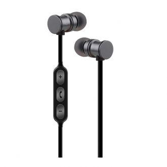 Ακουστικά Bluetooth AVLINK EMBT1-BLK Metallic Magnetic Grey