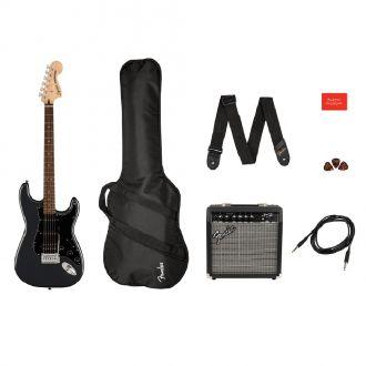 Κιθάρα Ηλεκτρική Fender Squier Affinity Stratocaster Hss Pack Charcoal Frost Metallic