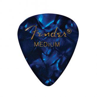 Fender Premium Celluloid 351 Shape Picks Medium Blue Moto